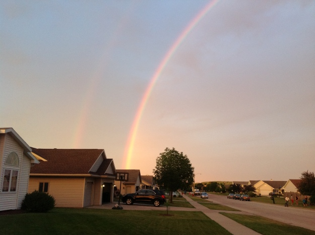 Awesome rainbow.  We had a lot of these this summer.