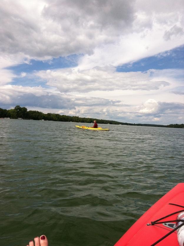 Dave and I kayaking on Kangaroo Lake