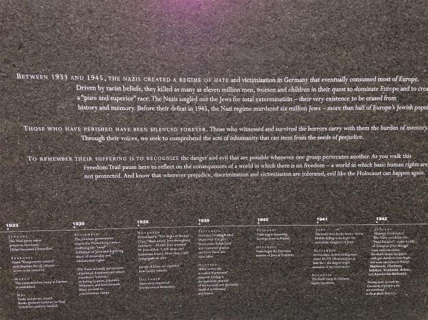 New England Holocaust Memorial, Boston
