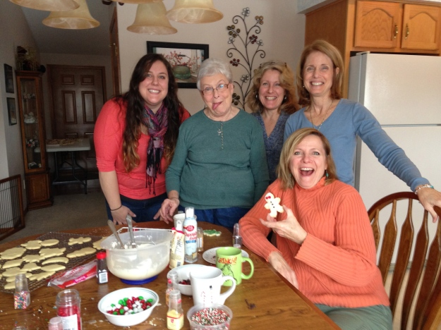 Niece Rachael, my mom, sisters Terri, Celeste and Maribeth.  Looking at my mom you are all realizing the apple does not fall far from the tree.