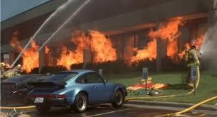 Initech burning down - not by popcorn - by Milton.