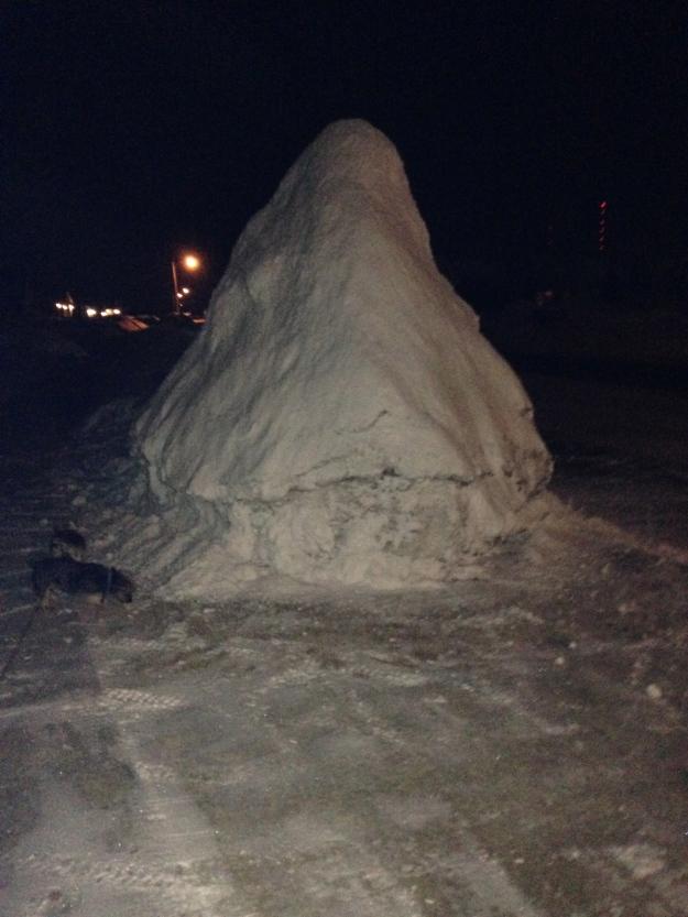 Holy snow pile, Batman.