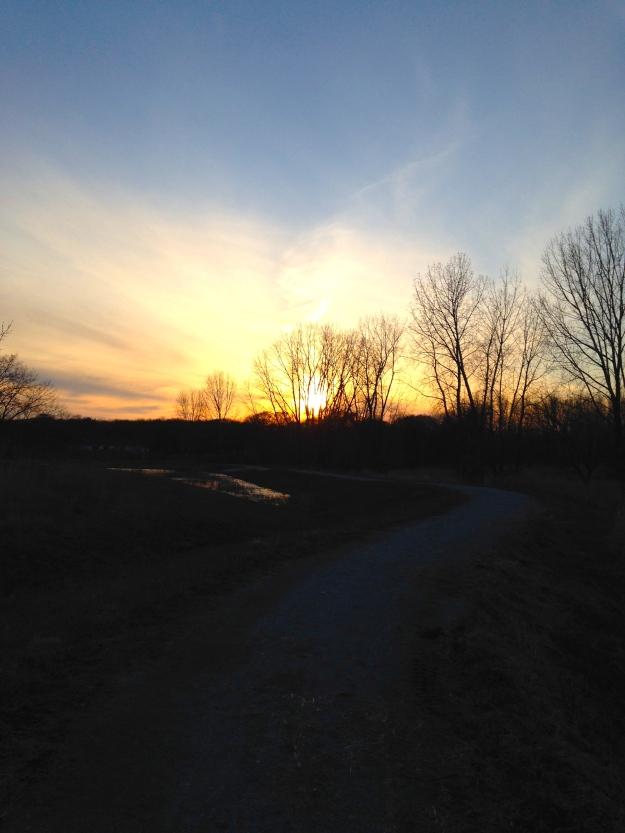 Trailside Sunset