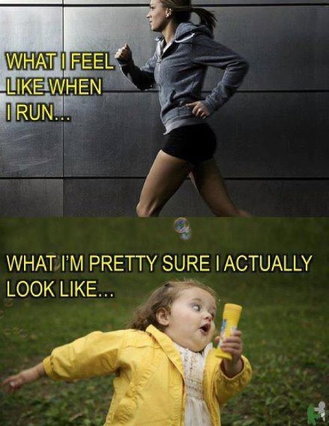 What I look like running