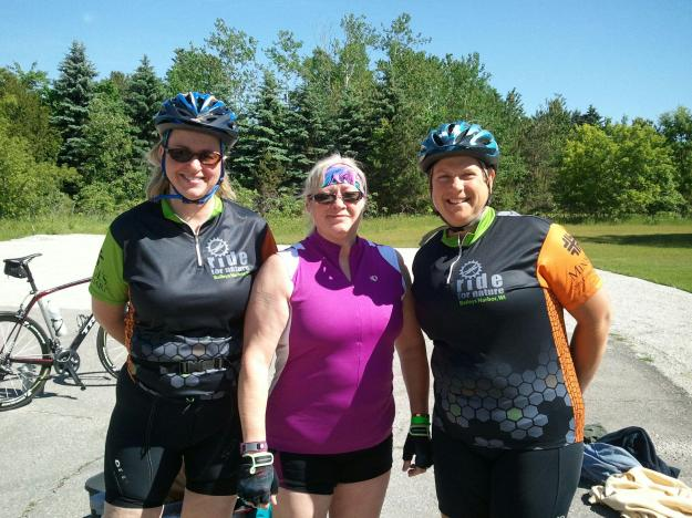 Meg, Kay and yours truly.  Ride for Nature, 2014