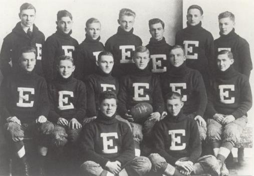 Curly Lambeau - first row on the left.  Cliff Conard - exact middle of the back row.