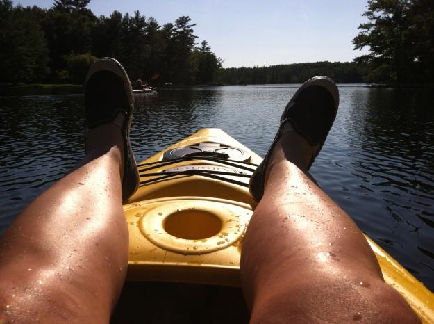 My summer feet kayaking.  Hope I get to go next summer.