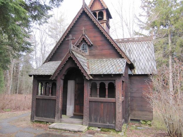 A Norwegian stavkirke - a stave church.