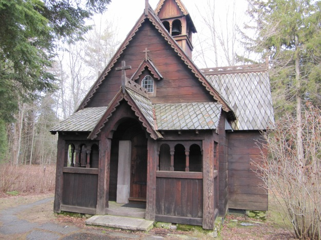 A Norwegian stavkirke - a stave church.