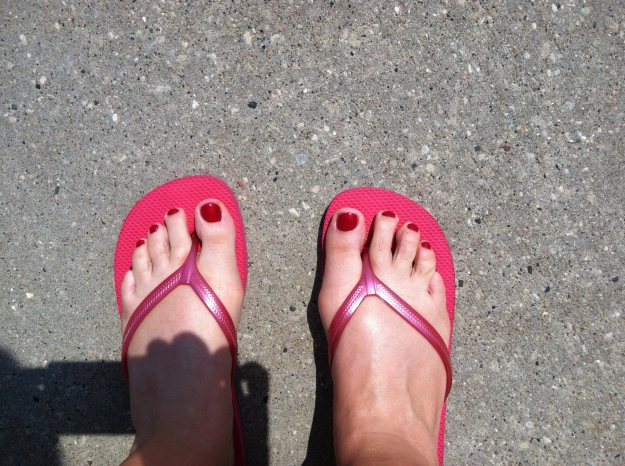 Pedicure!  Pretty feet ready for vacation!