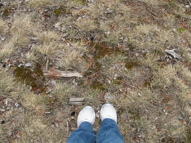 My spring feet - taken by the Boynton Chapel.