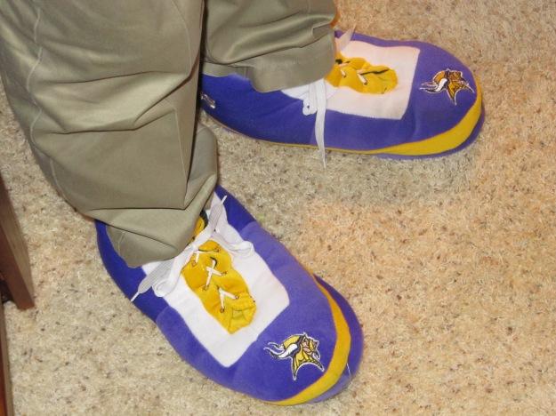 My brother's traitorous feet.