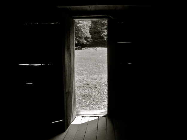 Roaring Fork cabin from the inside.  Smoky Mountains, TN