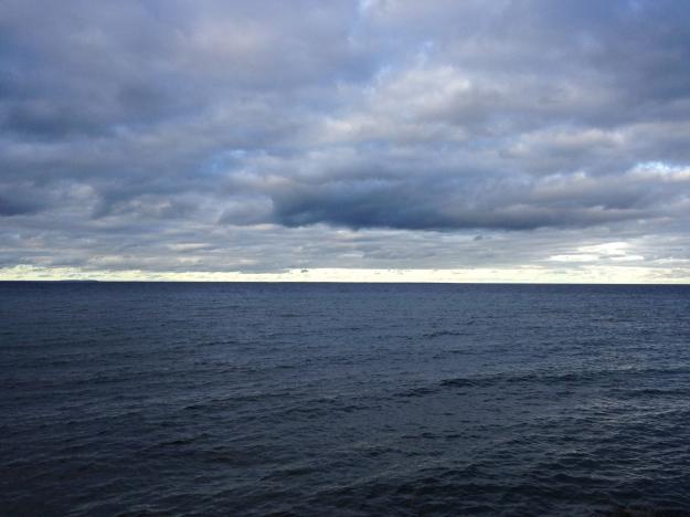 Cloudy Lake Michigan